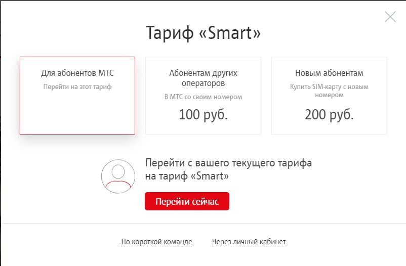 Тариф МТС Smart Тихвин