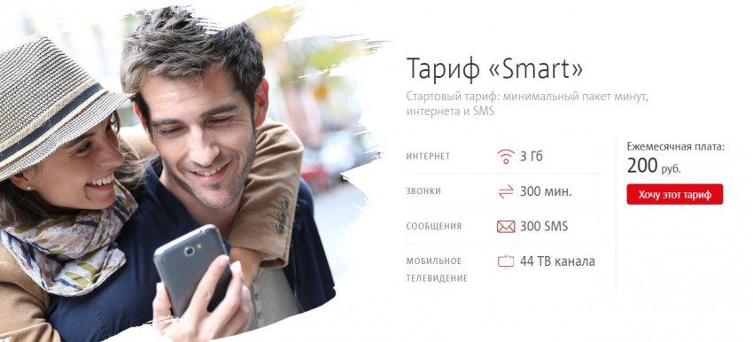 Тариф МТС Smart Железнодорожный